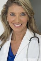 Caucasian doctor smiling