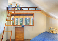 Loft bed in modern bedroom