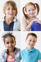 Portraits of smiling children