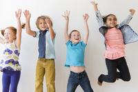Children jumping for joy