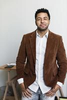 African American businessman smiling