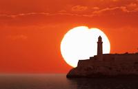 Sunset over El Morro Fortress, Havana, Cuba
