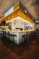 Empty bar in modern restaurant