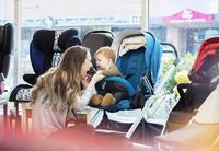 Caucasian mother and baby son shopping in stroller store 11018071405| 写真素材・ストックフォト・画像・イラスト素材|アマナイメージズ