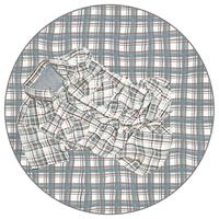 Checkered shirt on matching fabric