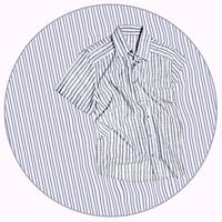 Striped shirt on matching fabric