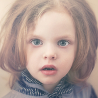 Close up of Caucasian girl with surprised expression