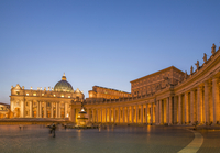Saint Peter Basilica at the Vatican illuminated at night, Rome, Lazio, Italy