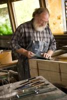 Caucasian craftsman in workshop