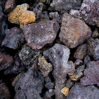Close up of volcanic rocks