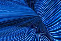 Flowing blue light streams 11018073102| 写真素材・ストックフォト・画像・イラスト素材|アマナイメージズ