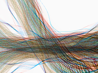 Flowing multicolor intersecting light streams 11018073116| 写真素材・ストックフォト・画像・イラスト素材|アマナイメージズ