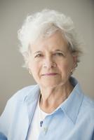 Close up of serious older Caucasian woman