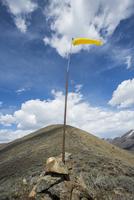 Wind sock on remote hilltop