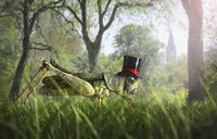 Illustration of cricket wearing monocle and top hat 11018082706| 写真素材・ストックフォト・画像・イラスト素材|アマナイメージズ