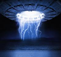Illustration of lightning bolts and spaceship 11018082784| 写真素材・ストックフォト・画像・イラスト素材|アマナイメージズ