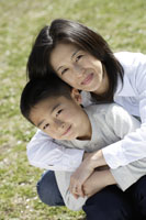 母親と息子