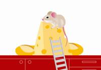 チーズを食べるネズミ