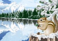冬のカナディアンロッキーのイメージ