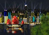 香港島の夜景イメージ 11019006145| 写真素材・ストックフォト・画像・イラスト素材|アマナイメージズ