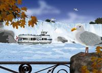 秋のナイアガラの滝イメージ 11019006159| 写真素材・ストックフォト・画像・イラスト素材|アマナイメージズ