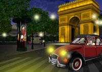 夜景の凱旋門イメージ