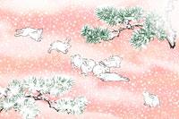 雪と兎 イラスト