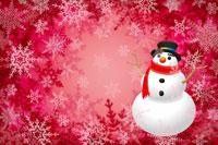 雪の結晶と雪だるま