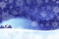 家と雪景色