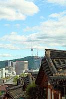 三清洞の街並みとNソウルタワー 韓国