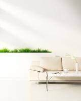 リビングルームのテーブルとソファ CG 11019024254| 写真素材・ストックフォト・画像・イラスト素材|アマナイメージズ