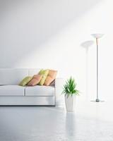 リビングルームに置かれたソファー CG  11019024994| 写真素材・ストックフォト・画像・イラスト素材|アマナイメージズ