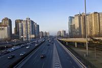 夕暮れの高速道路 北京