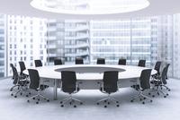 会議室のテープルと椅子 CG 11019029494| 写真素材・ストックフォト・画像・イラスト素材|アマナイメージズ