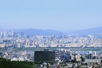 南山から見た江南方面の街並み ソウル