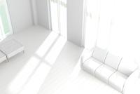 白いソファが置かれたリビングルーム CG 11019031631| 写真素材・ストックフォト・画像・イラスト素材|アマナイメージズ