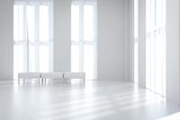 白いベンチチェアが置かれたリビングルーム CG 11019031634| 写真素材・ストックフォト・画像・イラスト素材|アマナイメージズ