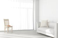 白いソファと椅子が置かれたリビングルーム CG 11019031751| 写真素材・ストックフォト・画像・イラスト素材|アマナイメージズ