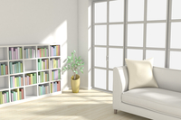ソファと本棚がある部屋 CG