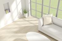 観葉植物とソファが置かれた部屋 CG