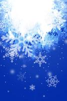 雪の結晶と光イメージ CG