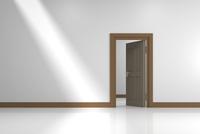 開いた扉と光 CG