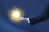 光と手 ビジネスマンイメージ CG