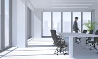 ビジネスマンと会議室 CG