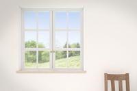 景色の見える窓辺 CG