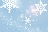 雪の結晶と光 CG