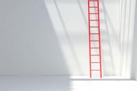 白い部屋と赤い梯子 CG