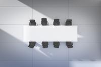 白いテーブルと黒い椅子 CG 11019033777| 写真素材・ストックフォト・画像・イラスト素材|アマナイメージズ