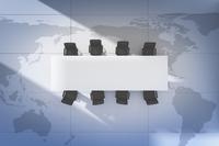 世界地図とテーブルと椅子 CG 11019033778| 写真素材・ストックフォト・画像・イラスト素材|アマナイメージズ