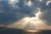 古宇利島から見た夕景の海 沖縄県